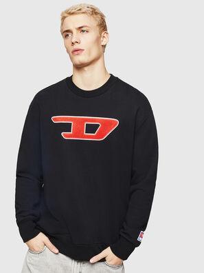 S-CREW-DIVISION-D, Schwarz - Sweatshirts