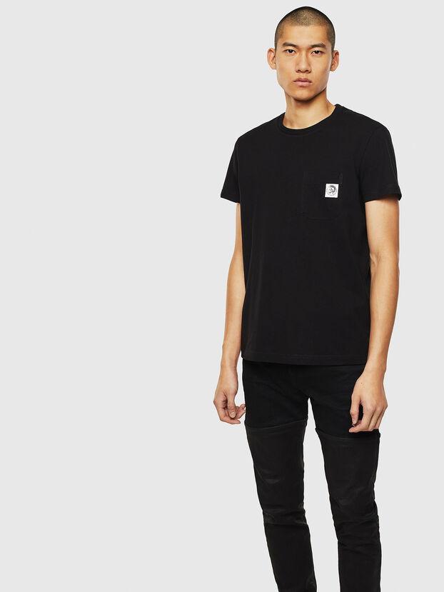 T-WORKY-MOHI, Schwarz - T-Shirts