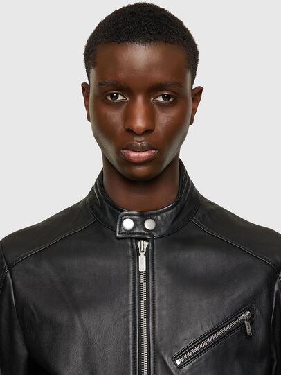 Diesel - L-CASE-KA, Black - Leather jackets - Image 4