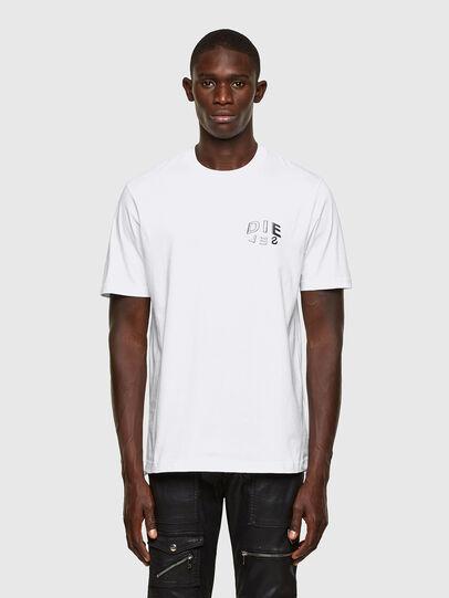 Diesel - T-JUST-SLITS-A30, Bianco - T-Shirts - Image 1