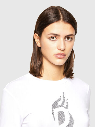 Diesel - T-SILY-R1, Bianco - T-Shirts - Image 3