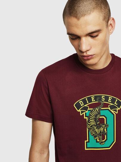 Diesel - T-DIEGO-B4, Bordeauxrot - T-Shirts - Image 3