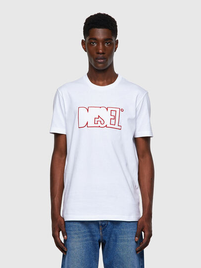 Diesel - T-DIEGOS-B8, Rot/Weiss - T-Shirts - Image 1