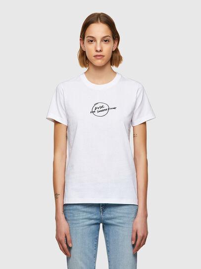 Diesel - T-SILY-B8, Blanc - T-Shirts - Image 1