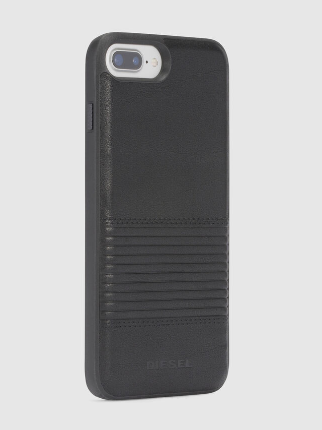 BLACK LINED LEATHER IPHONE 8/7/6s/6 CASE, Schwarz