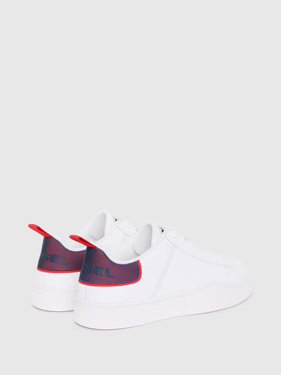 Diesel - S-CLEVER LOW LACE, Blanc/Rouge - Baskets - Image 3