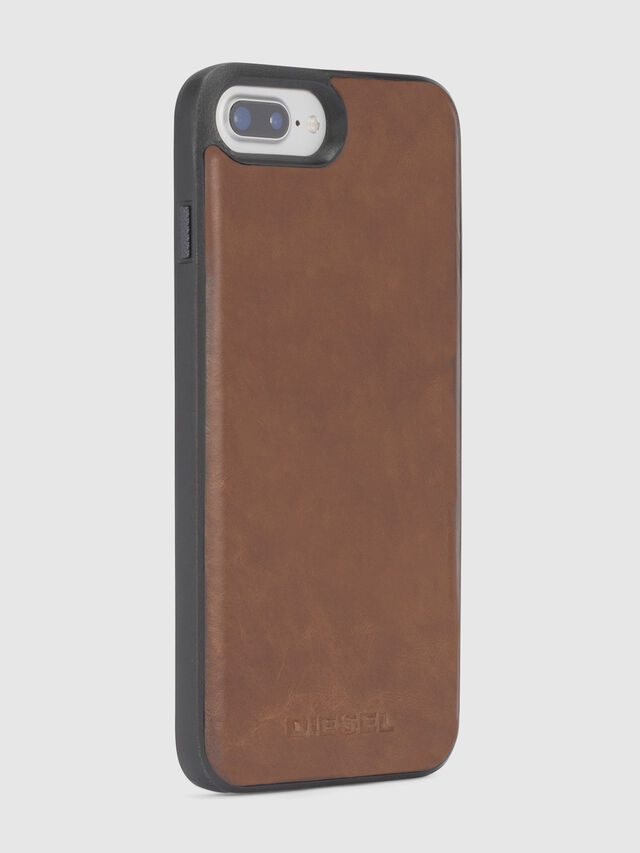 Diesel - BROWN LEATHER IPHONE X CASE, Braun - Schutzhüllen - Image 5