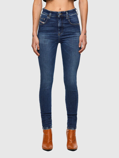 Diesel - Slandy High 009ZX, Blu Scuro - Jeans - Image 1