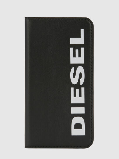 Diesel - SLIM LEATHER FOLIO IPHONE X, Schwarz - Klappcover - Image 5