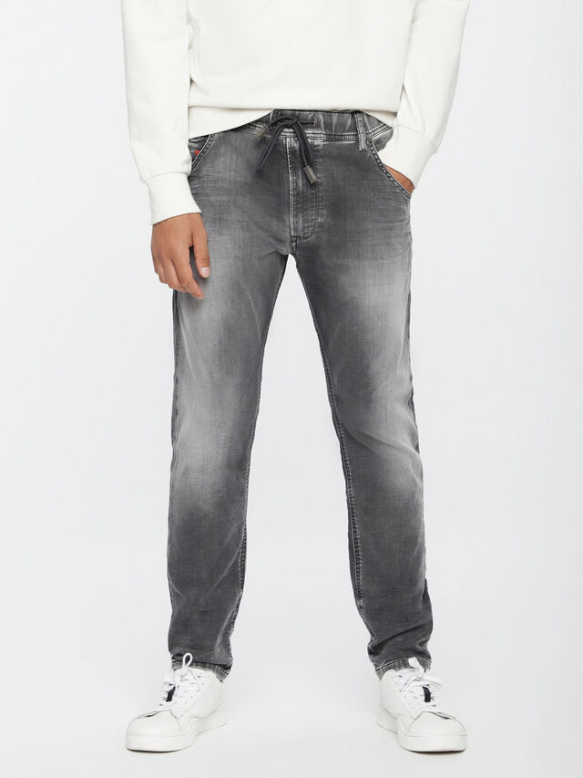 Diesel Krooley JoggJeans 0855B, Hellgrau - Jeans - Image 1