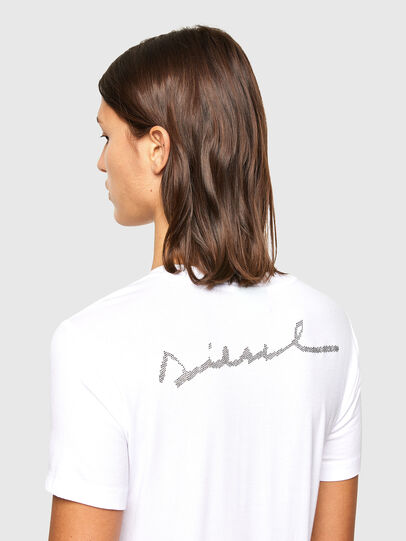 Diesel - T-SILY-R1, Bianco - T-Shirts - Image 4