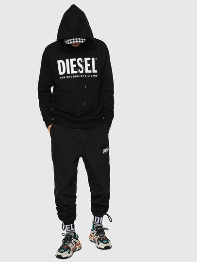 Diesel - S-GIR-HOOD-DIVISION-, Schwarz - Sweatshirts - Image 4