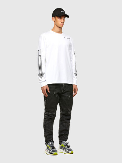 Diesel - T-JUST-LS-A8, Bianco - T-Shirts - Image 4