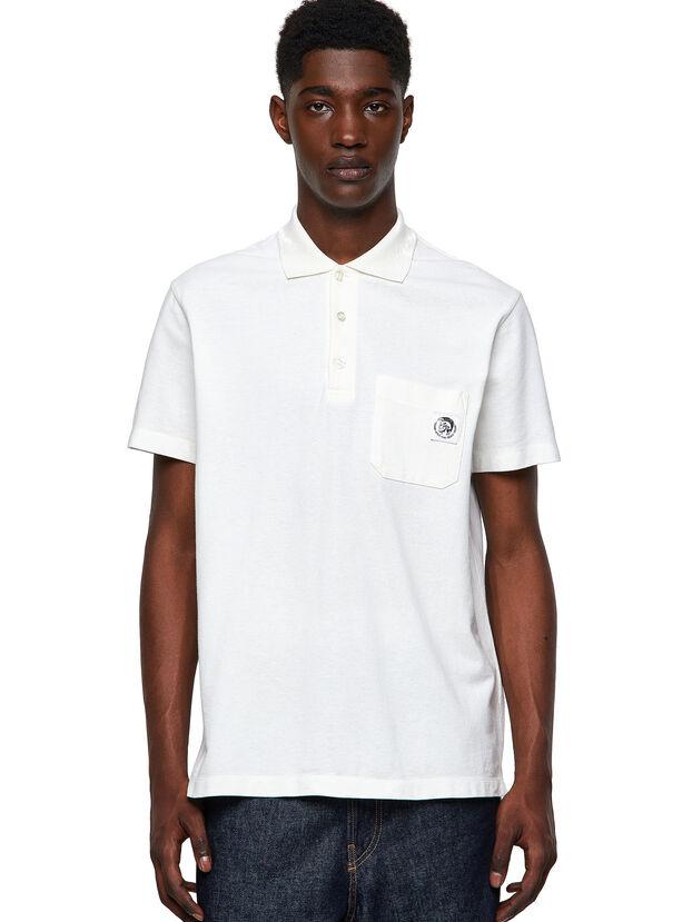 T-POLO-WORKY, Weiß - Polohemden