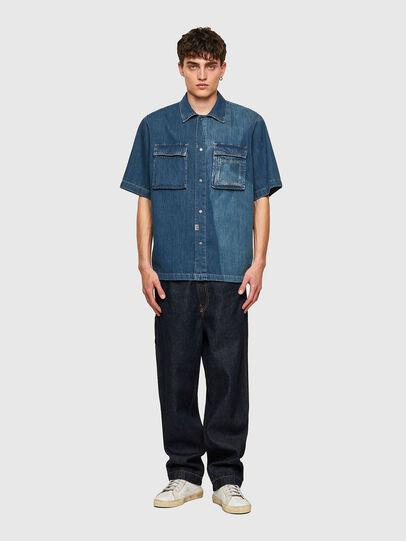 Diesel - D-GUNN-SP, Bleu moyen - Chemises en Denim - Image 5