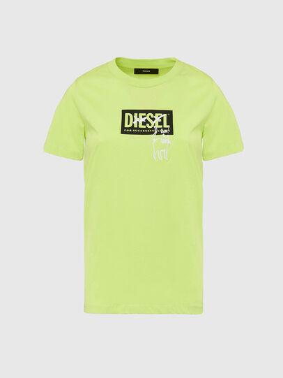 Diesel - T-SILY-E52, Neongrün - T-Shirts - Image 1