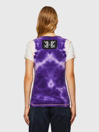 Diesel - T-SUPERY-V10, Weiss/Violett - T-Shirts - Image 2