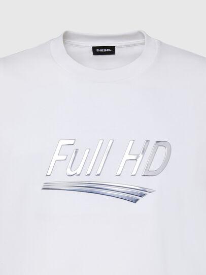 Diesel - T-JUST-SLITS-X83, Weiß - T-Shirts - Image 3