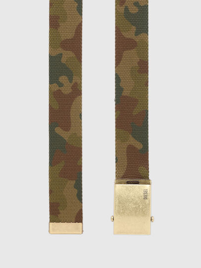 Diesel - B-COMBA, Green Camouflage - Belts - Image 3