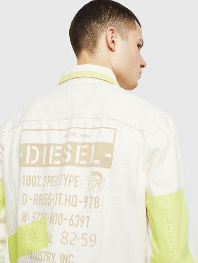 Diesel - NHILL-SP, Weiß - Denim jacken - Image 5