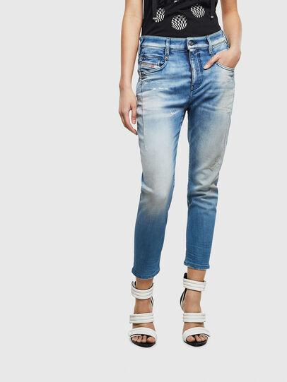 Diesel - Fayza JoggJeans 0099Q, Mittelblau - Jeans - Image 1