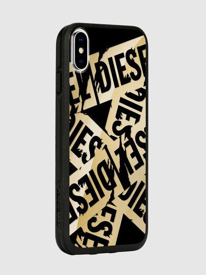 Diesel - MULTI TAPE GOLD/BLACK IPHONE X CASE, Gold - Schutzhüllen - Image 6