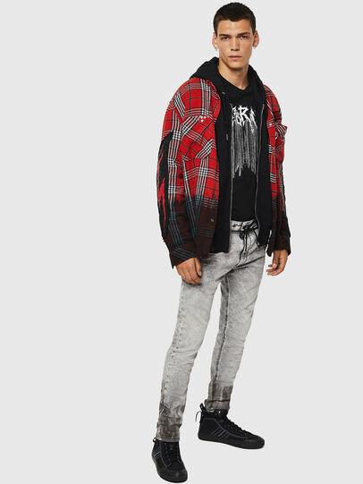 Diesel - Krooley JoggJeans 0091H, Hellgrau - Jeans - Image 7