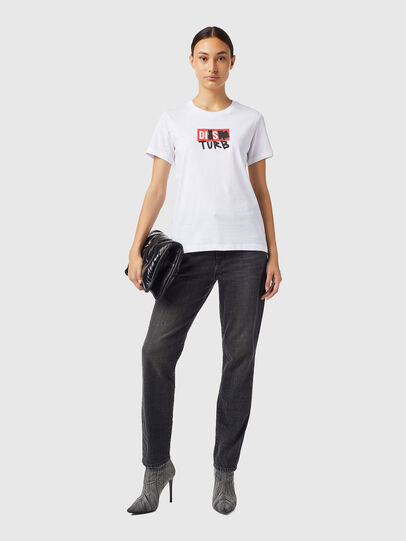 Diesel - T-SILY-B6, White - T-Shirts - Image 4