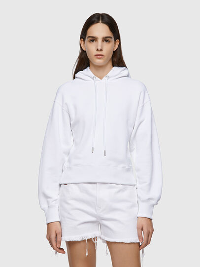 Diesel - F-LYM-HOOD-C.C, Blanc - Pull Cotton - Image 1