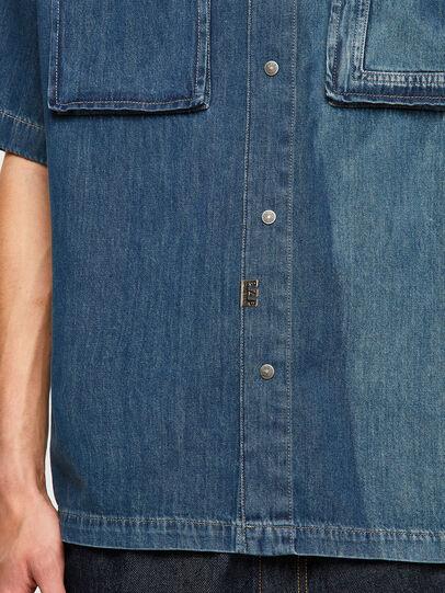 Diesel - D-GUNN-SP, Bleu moyen - Chemises en Denim - Image 4
