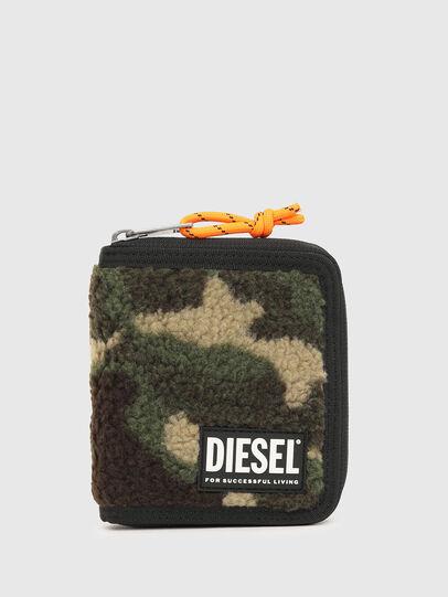 Diesel - PI-ZIP, Vert Camouflage - Portefeuilles Zippés - Image 1