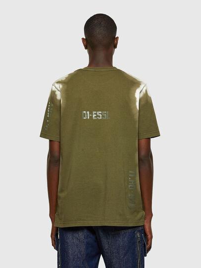 Diesel - T-JUBIND-SLITS-A3, Verde Militare - T-Shirts - Image 2
