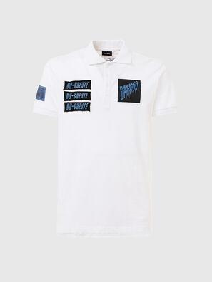 T-RALF-PATCH, Weiß - Polohemden