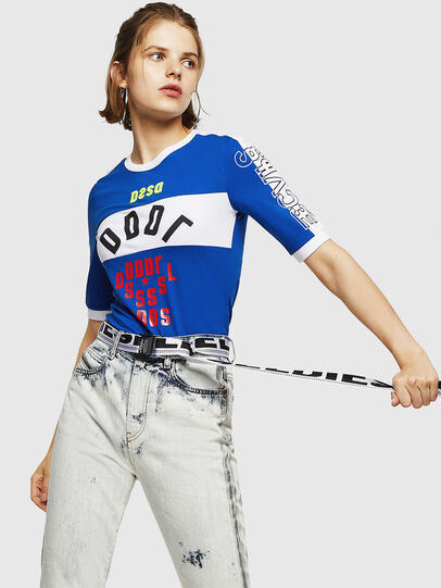 Diesel - T-HEIA-B, Brillantblau - T-Shirts - Image 4