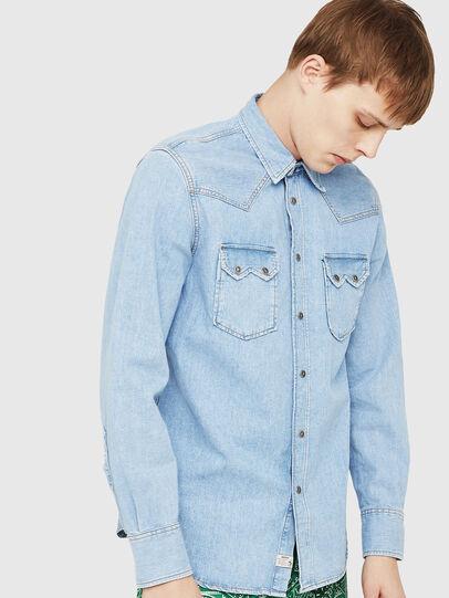 Diesel - D-LEO, Bleu Clair - Chemises en Denim - Image 1