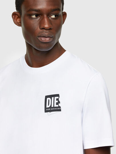 Diesel - T-JUST-LAB, Blanc - T-Shirts - Image 3