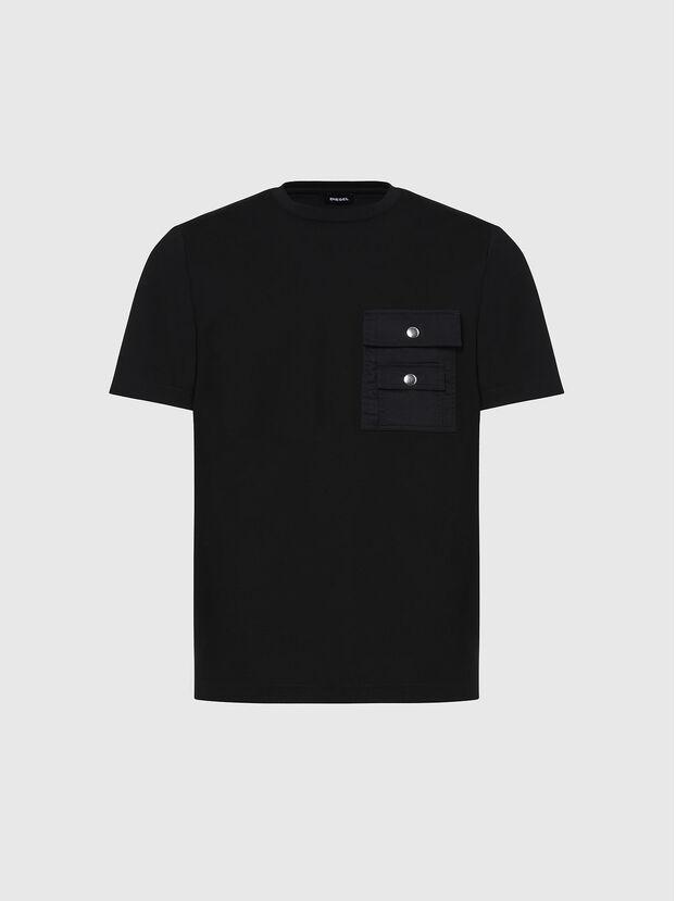 T-TASK-SLITS, Schwarz - T-Shirts