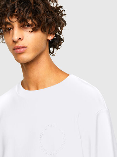 Diesel - S-GIRK-A73, Blanc - Pull Cotton - Image 3