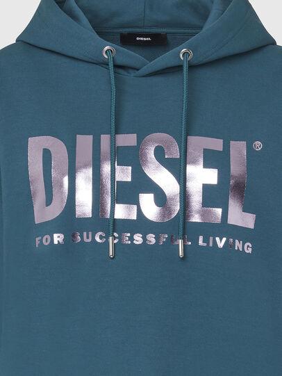 Diesel - F-ANG-HOOD-LOGO, Wassergrün - Sweatshirts - Image 3