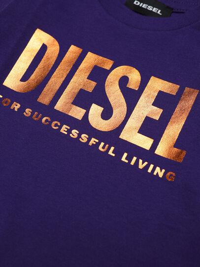 Diesel - TJUSTLOGOB-FL ML, Violet - T-shirts et Hauts - Image 3