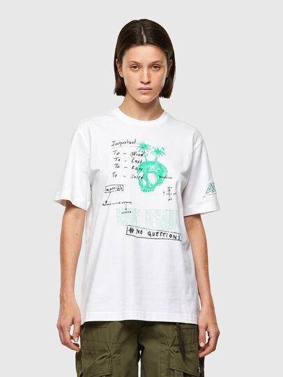 Diesel - T-JUST-B61, Weiß - T-Shirts - Image 2