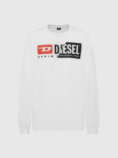 Diesel - T-DIEGO-LS-CUTY, Bianco - T-Shirts - Image 1