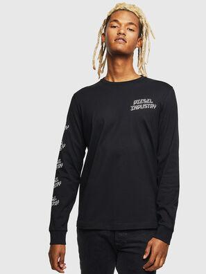 T-DIEGO-LS-J1, Schwarz - T-Shirts