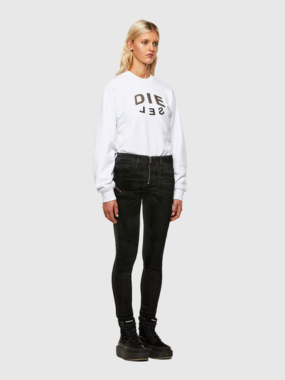 Diesel - F-ANG-R20, Blanc - Pull Cotton - Image 4