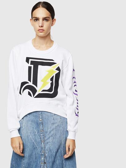 Diesel - F-LYANYDY-A, Weiß - Sweatshirts - Image 1