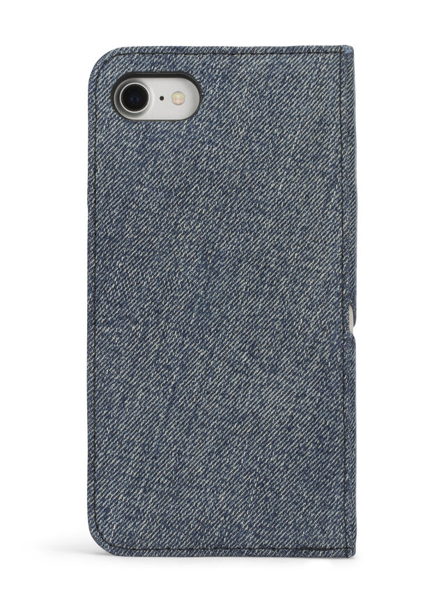 Diesel - DENIM IPHONE 8/7 FOLIO, Jeansblau - Klappcover - Image 4