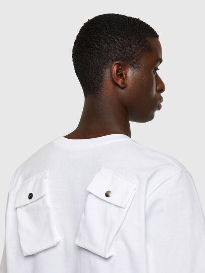 Diesel - T-JUSPOCK, Bianco - T-Shirts - Image 3