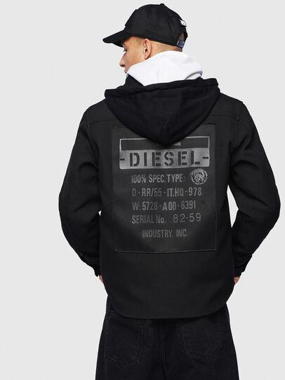 Diesel - J-JESSY-HOOD, Schwarz - Jacken - Image 2