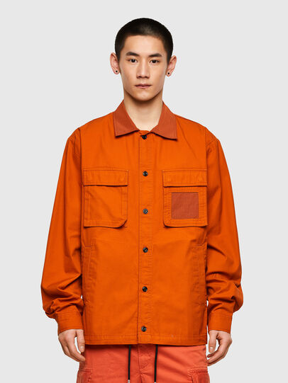 Diesel - S-GUNN-LS, Orange - Chemises - Image 1