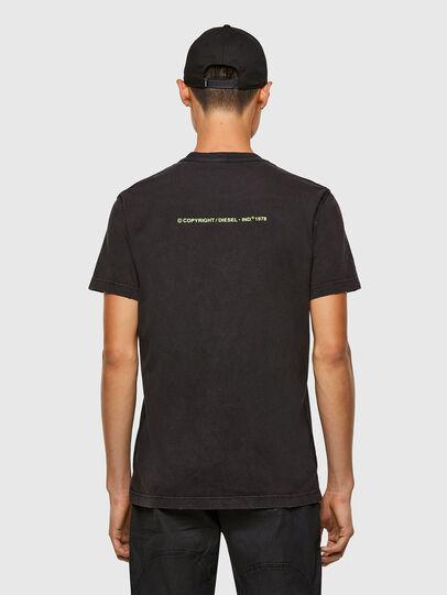 Diesel - T-DIEBIND-SLITS-A2, Nero - T-Shirts - Image 2